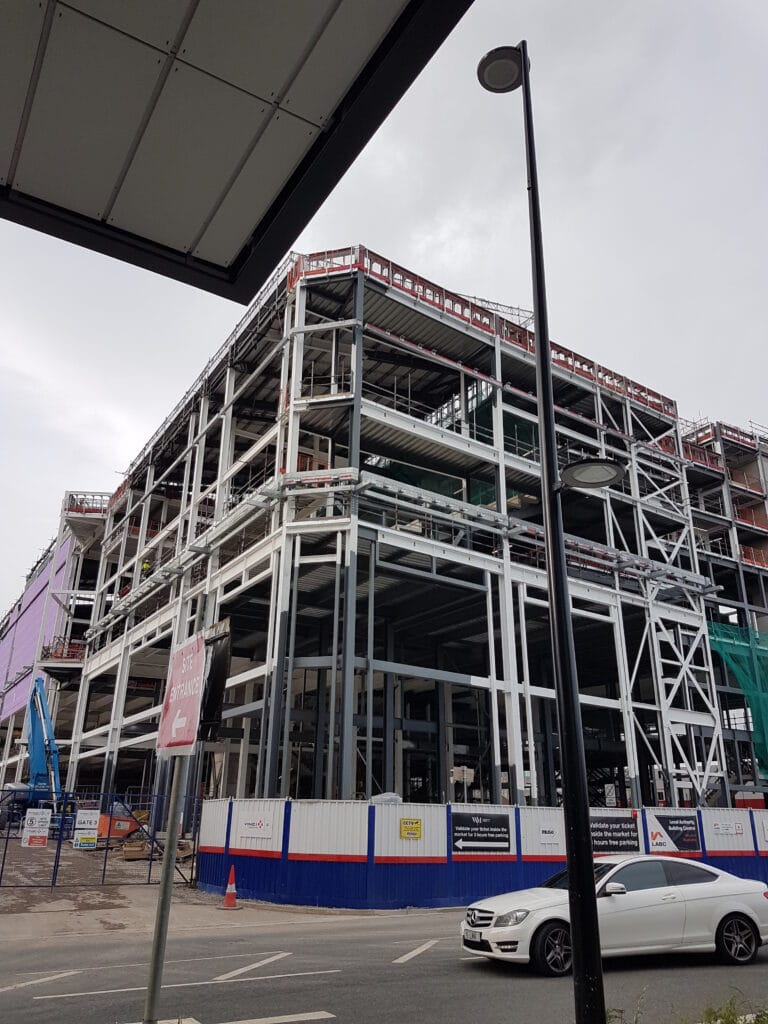 Specification for structural steel components for Time Square development in Warrington