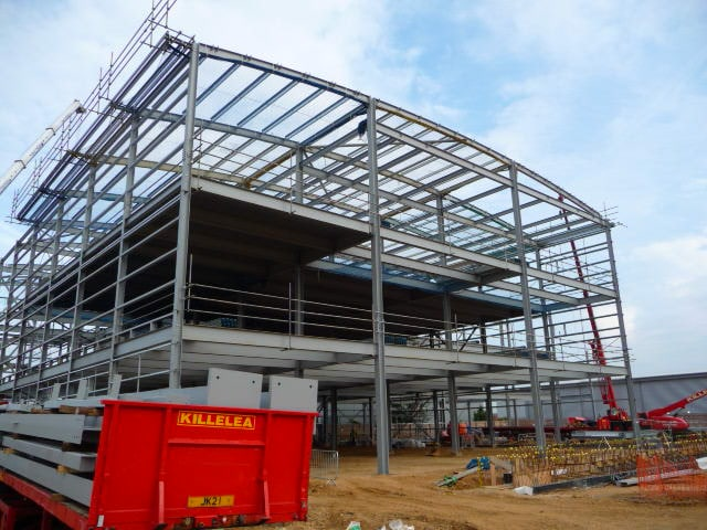 Structural steel supply specification for Virtus Data Centre in Southall, London